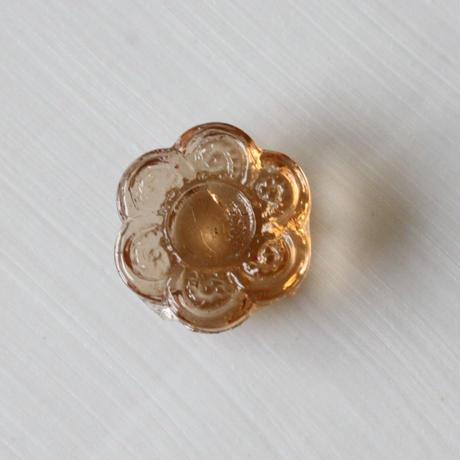 お花のガラスパーツ(クリア)  1.1㎝ フランス1950年代ヴィンテージ