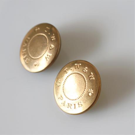 【ボタンセット】france vintage  PARIS刻印メタルボタン2個セット 22㎜