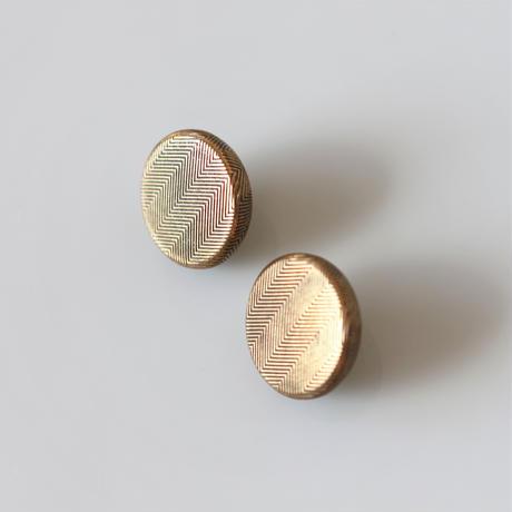【ボタンセット】france vintage  ブロンズストライプメタルボタン2個セット 15㎜ 353