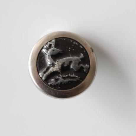 フランス ハンティングボタン鹿のメタルボタン 一つ穴16㎜