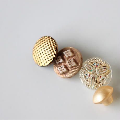 【ボタンセット】小さなガラスボタン5個セット フランスヴィンテージ