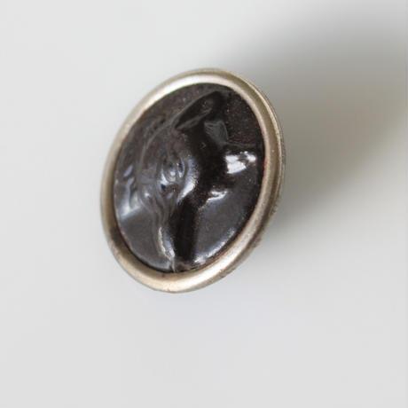 【ハンティングボタン】fh-18 きつねのメタルボタン 23㎜ フランス