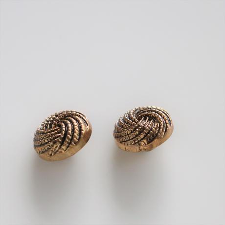 【ボタンセット】france vintage  縄模様ボタン2個セット