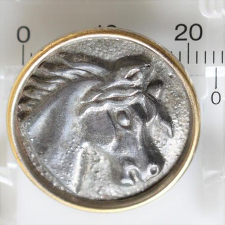 【ハンティングボタン】fh-15 馬のメタルボタン 23㎜ フランス