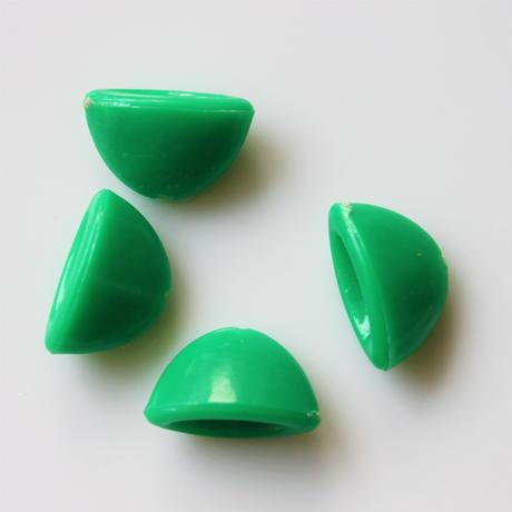 オーバルカップパーツ 15㎜ 4個セット(green)France vintage