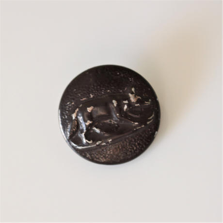 【ハンティングボタン】  fh-21  キツネのメタルボタン 23㎜ フランス