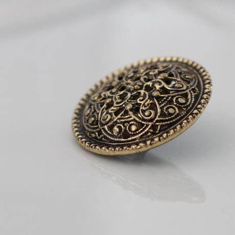 france vintage メタルボタン 27㎜ 366