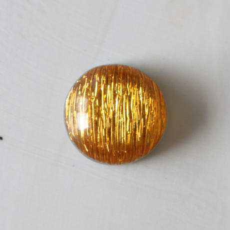 光沢ギャザーラウンドカボション 2㎝(gold) フランス
