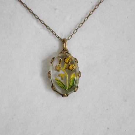 インタリオのネックレス〔菜の花〕数量限定 オリジナルネックレス
