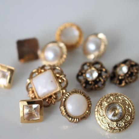 【ボタンセット】france vintage  小さなパール調ボタン4個セット