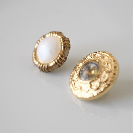 【ボタンセット】france vintage  ゴールドエレガントボタン3個セット