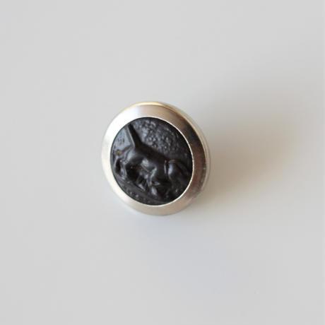 【ハンティングボタン】fh-4  犬のメタルボタン 16㎜ フランス