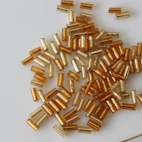 竹ビーズ  5g gold フランスヴィンテージ