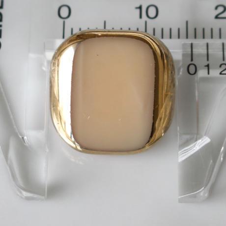 【ボタンセット】cream・goldガラスボタン2個セット フランスヴィンテージ