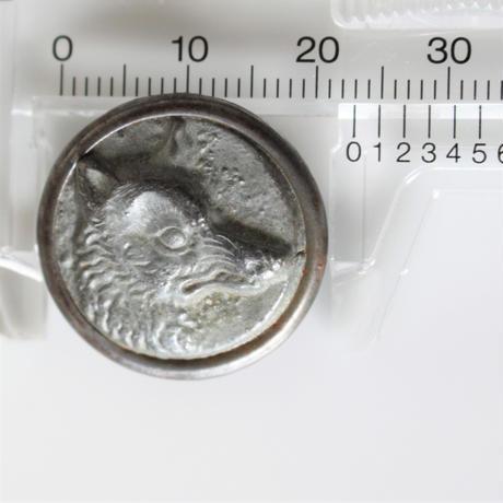 【ハンティングボタン】fh-17 きつねのメタルボタン 23㎜ フランス
