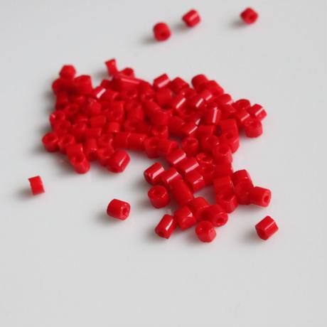 一分竹ビーズ (red)5g フランスヴィンテージ 655