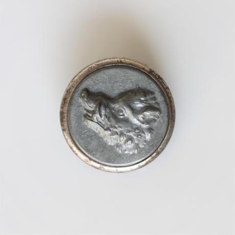【ハンティングボタン】fh-14 猪のメタルボタン 23㎜ フランス