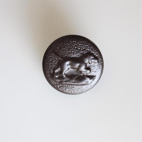 【ハンティングボタン】 犬のメタルボタン 16㎜ フランスデッドストック 364