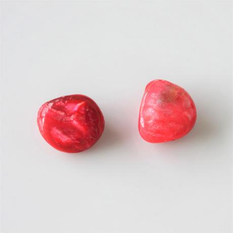 シェルビーズ Sサイズ2個(red) フランス シェルパーツ 405