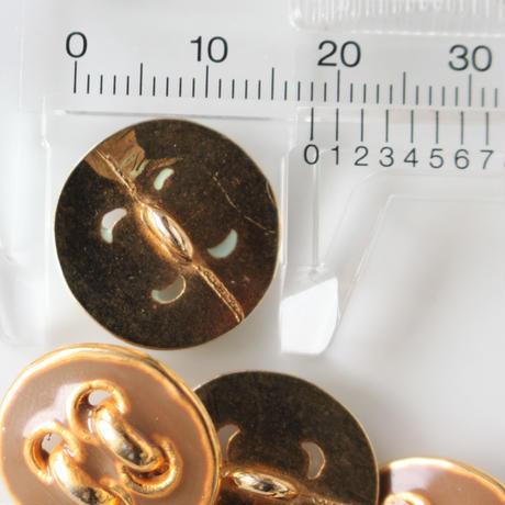四つ穴柄メタルボタン 一つ穴18㎜ フランス 354