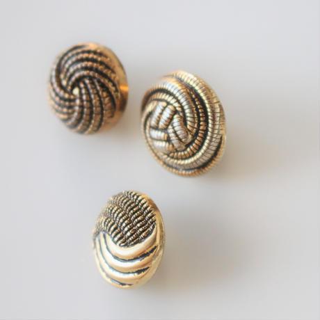 【ボタンセット】france vintage  ゴールドボタン3個セット
