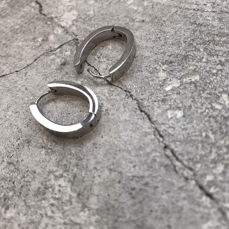 oval stainless hoop pierce
