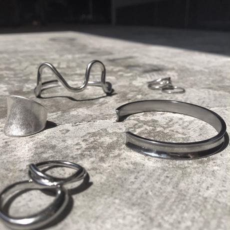 twist ring×wave ring set