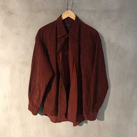 retro corduroy big shirt