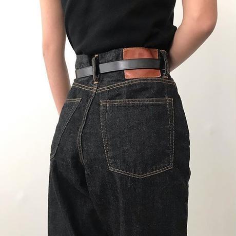 KAY High Waist Jeans <BLACK>