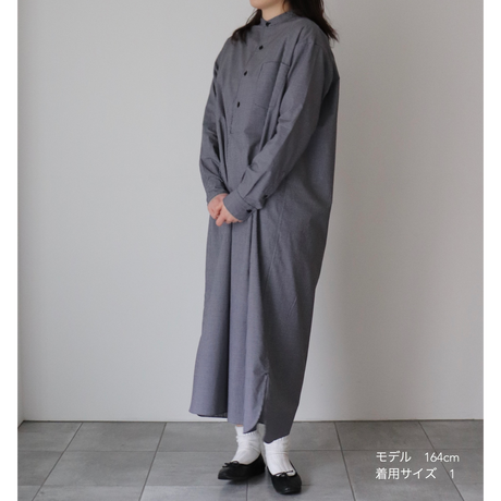 【THOMAS MASON】BAND COLLAR PULLOVER DRESS