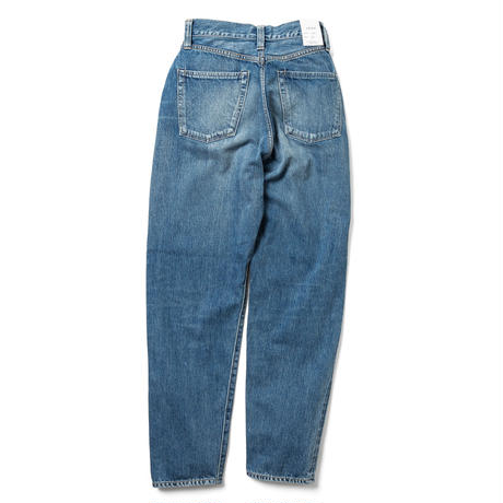 """LUCY"" HIGH WAIST TAPERED JEANS -FADE INDIGO-【初回交換送料無料】"