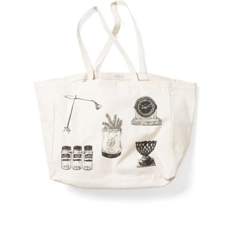 LENO CANVAS TOTE BAG