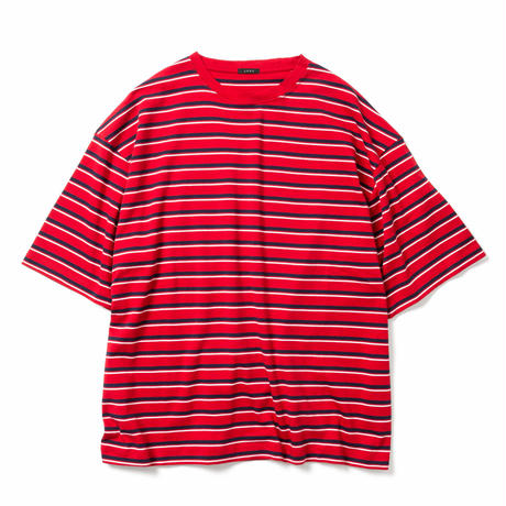 【UNISEX】MULTI BORDER BIG T-SHIRT