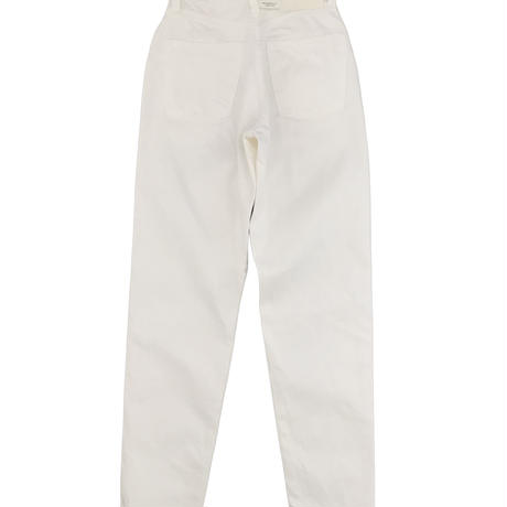 LUCY HIGH WAIST TAPERED JEANS -WHITE-