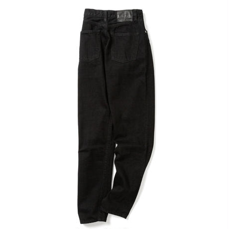 """ LUCY "" HIGH WAIST TAPERED JEANS -BLACK-"