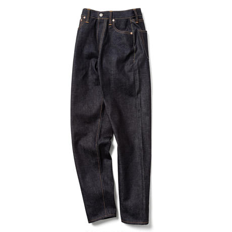 """LUCY"" HIGH WAIST TAPERED JEANS -NON WASH-"
