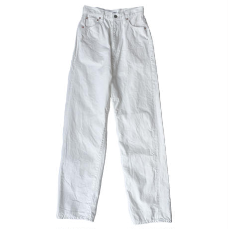 KAY High Waist Jeans -WHITE-