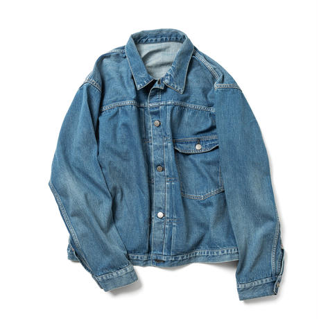 """BRENDA""  BIG TRUCKER JACKET [FADE INDIGO]"