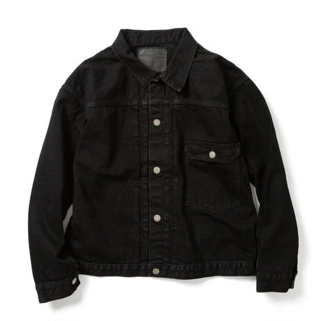 "【UNISEX】""BRENDA""  BIG TRUCKER JACKET  -BLACK-"