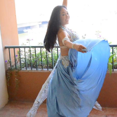 ベリーダンスコスチューム【Cinderella Blue】