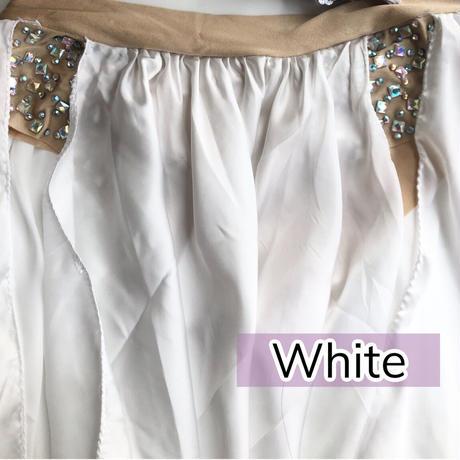 2スリットシルクサテンスカート
