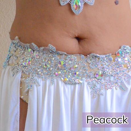 【White Silver】ブラベルトコスチューム【Peacock】