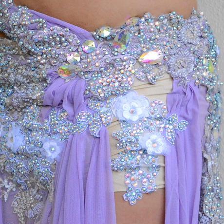 ベリーダンスコスチューム【Sweet Lavender】