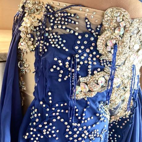 ベリーダンスコスチューム【Royal Blue】