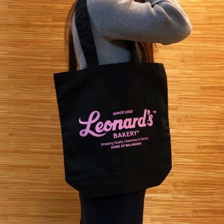 Leonard'sロゴ入りトートバッグ(M)(ブラック)