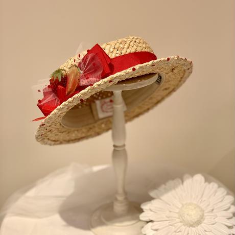 いちごミニカンカン帽