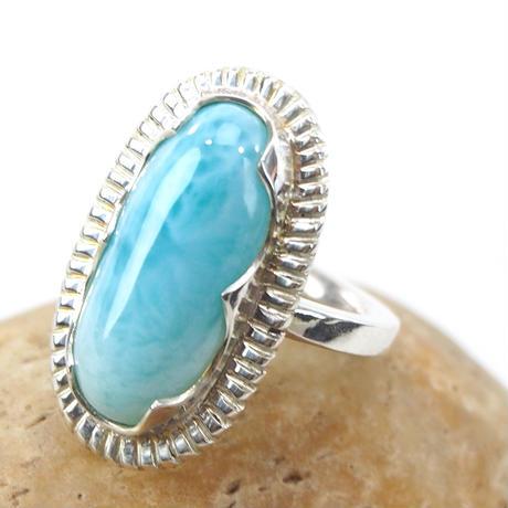 14号カリブの水色ラリマー SVリング指輪