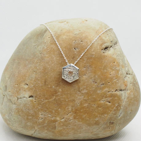 0.17ctシャンパンカラー・ナチュラルダイヤモンド SVネックレス