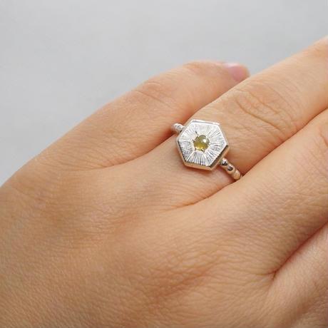 11.5号0.12ctシャンパンカラー・ナチュラルダイヤモンド リング
