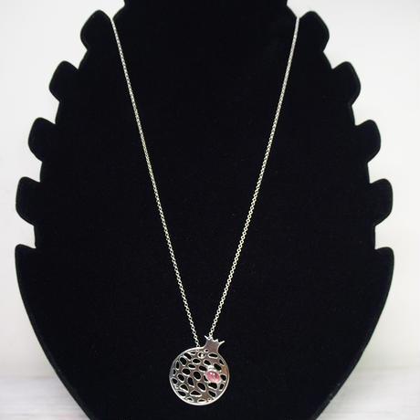 豊穣のシンボル柘榴*ピンクトルマリン SVネックレス